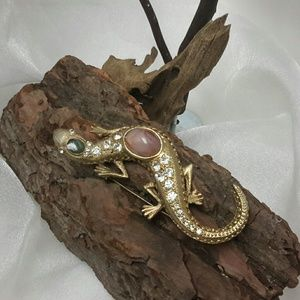 Jewelry - LIZARD RHINESTONE BROOCH /PIN